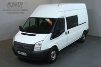 USED 2013 63 FORD TRANSIT 2.2 350 124 BHP LWB H/ROOF L3 H3 9 SEATER COMBI CREW VAN ONE OWNER FULL S/H SPARE KEY