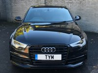USED 2013 63 AUDI A6 SALOON 2.0 TDI S LINE BLACK EDITION 4d 175 BHP 1 OWNER CAR/LOW MILES/SAT NAV/LEATHER