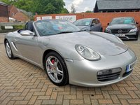 USED 2005 05 PORSCHE BOXSTER 3.2 24V S 2d 280 BHP Full Blue Heated Leather Sport Seats, 18 in 5 Double Spoke Alloys ,