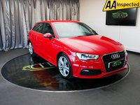 USED 2014 63 AUDI A3 1.4 TFSI S LINE 5d AUTO 121 BHP £0 DEPOSIT FINANCE AVAILABLE, AIR CONDITIONING, AUDI DRIVE SELECT, BLUETOOTH CONNECTIVITY, CLIMATE CONTROL, DAB RADIO, DAYTIME RUNNING LIGHTS, ELECTRONIC PARKING BRAKE, FULL S LINE LEATHER UPHOLSTERY, GEARSHIFT PADDLES, STEERING WHEEL CONTROLS, S TRONIC AUTOMATIC GEARBOX, TRIP COMPUTER, VOICE ACTIVATED CONTROLS