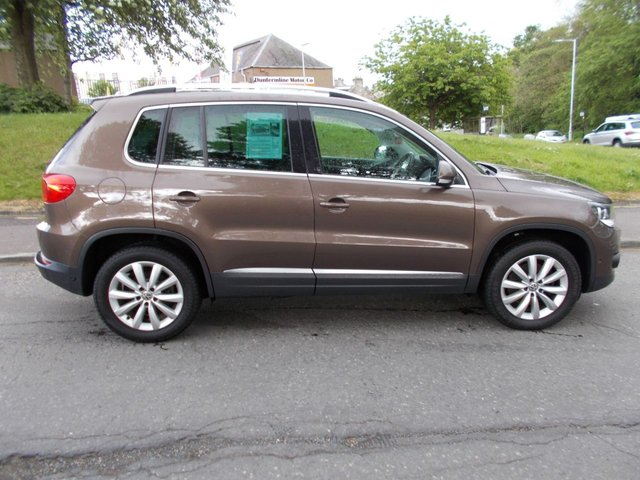 USED 2014 14 VOLKSWAGEN TIGUAN 2.0 MATCH TDI BLUEMOTION TECHNOLOGY 4MOTION 5d 139 BHP ++1 OWNER FROM NEW WITH VW SERVICE RECORD++