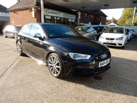 USED 2014 64 AUDI A3 2.0 S3 QUATTRO 3d AUTO 296 BHP SUPER SPORT SEATS,SAT NAV,HEATED SEATS,CRUISE,BANG AND OULFSEN