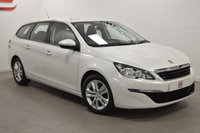 USED 2014 64 PEUGEOT 308 1.6 BLUE HDI SW ACTIVE 5d 120 BHP ZERO COST ROAD TAX !!! + NEW SHAPE + SAT NAV + 60 MPG + BEST COLOUR !!!