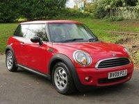 2009 MINI HATCH ONE 1.4 ONE 3d 94 BHP £3290.00