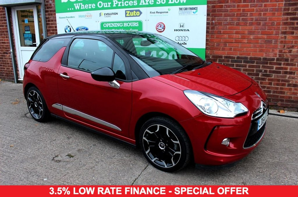 2014 64 CITROEN DS3 1.6 E-HDI DSTYLE PLUS 3d 90 BHP