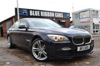 USED 2013 13 BMW 7 SERIES 3.0 730D M SPORT 4d AUTO 242 BHP CARBON BLACK, OYSTER LEATHER, PRO SAT NAV