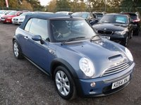 USED 2004 54 MINI CONVERTIBLE 1.6 COOPER S 2d 168 BHP ****Great Value economical reliable car with  service history, drives superbly****