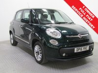USED 2015 15 FIAT 500L 1.4 LOUNGE 5d 95 BHP 1 Owner, Full Fiat History, serviced in July 2016 at 1,670 miles, July 2017 at 3,441 miles and August 2018 at 5,211 miles this is a stunning example of a Fiat 500L Lounge and represents a massive saving over new car list price. This car has a great spec which includes a Glass Panoramic Roof, Parking Sensors, City Brake Control System, Bluetooth, Air Conditioning, Alloys together with an MOT until 29th May 2019. Finance Available at 9.9% APR Representative.