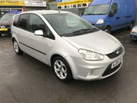 2008 FORD C-MAX 1.6 ZETEC 5 DOOR 100 BHP IN SILVER WITH ONLY 80000 MILES IN GREAT CONDITION. £2999.00