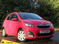 USED 2015 15 PEUGEOT 108 1.0 ACTIVE 3d 68 BHP LOW MILEAGE, TOUCH SCREEN MEDIA