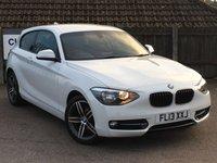 2013 BMW 1 SERIES 1.6 116I SPORT 3d 135 BHP £8995.00