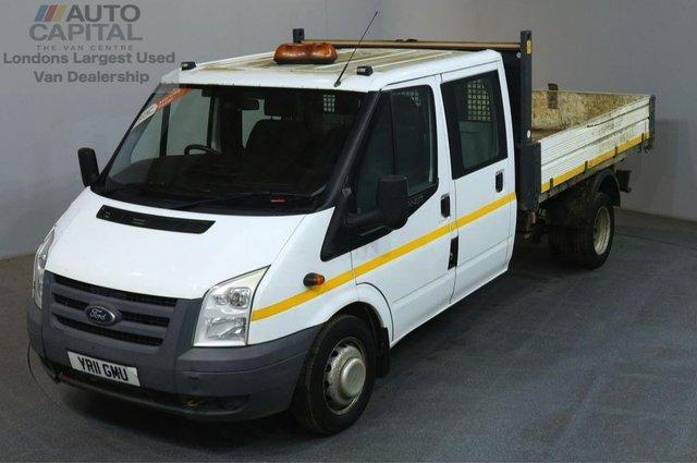 2011 11 FORD TRANSIT 2.4 350 115 BHP LWB D/CAB TWIN WHEEL RWD TIPPER