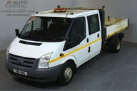 USED 2011 11 FORD TRANSIT 2.4 350 115 BHP LWB D/CAB TWIN WHEEL RWD TIPPER REAR BED LENGTH 9 FOOT 5 INCH