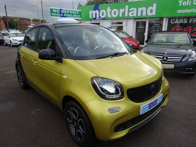 USED 2015 15 SMART FORFOUR 0.9 PRIME PREMIUM T 5d 90 BHP **SERVICE HISTORY...SAT NAV....HEATED SEATS....**01543 877320