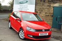 USED 2014 14 VOLKSWAGEN POLO 1.2 MATCH EDITION TDI 5d 74 BHP FULL VW Service History Only £20 Road Tax
