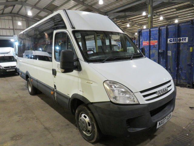 2007 IVECO DAILY 50C15 3.0 TD 14 SEATER LWB AUTOMATIC TWIN WHEEL MINIBUS NO VAT