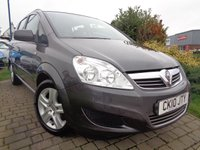 USED 2010 10 VAUXHALL ZAFIRA 1.6 EXCLUSIV 5d 113 BHP **Low Mileage 7 Seater Full Service History 12 Months Mot**