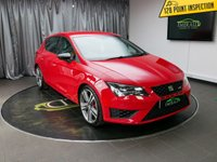 USED 2015 15 SEAT LEON 2.0 TSI CUPRA 5d 276 BHP £0 DEPOSIT FINANCE AVAILABLE, AIR CONDITIONING, AUX INPUT, BLUETOOTH CONNECTIVITY, CLIMATE CONTROL, CRUISE CONTROL, DAB RADIO, DAYTIME RUNNING LIGHTS, PARKING SENSORS, STEERING WHEEL CONTROLS, SATELLITE NAVIGATION, TOUCH SCREEN HEAD UNIT, TRIP COMPUTER, USB CONNECTION
