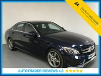 USED 2016 66 MERCEDES-BENZ C-CLASS 2.1 C220 D AMG LINE 4d AUTO 170 BHP MERCEDES HISTORY - EURO 6 - 1 OWNER - LEATHER - REAR CAMERA - PARKING SENSORS - BLUETOOTH - CRUISE