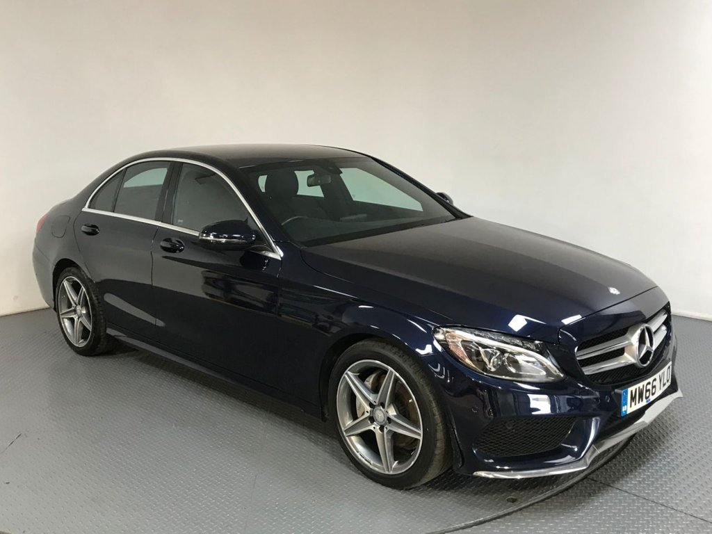 USED 2016 66 MERCEDES-BENZ C CLASS 2.1 C220 D AMG LINE 4d AUTO 170 BHP SERVICE HISTORY - EURO 6 - 1 OWNER - LEATHER - REAR CAMERA - PARKING SENSORS - BLUETOOTH - CRUISE