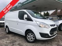 USED 2015 64 FORD TRANSIT CUSTOM 2.2 270 LIMITED LR P/V 1d 125 BHP SAT NAV, 125 BHP, Air Con, Heated Seats.