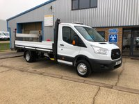 2016 FORD TRANSIT 2.2 350 C/C DRW 1d 124 BHP DROPSIDE WITH TAIL LIFT £13395.00