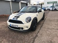 USED 2013 63 MINI COUPE 1.6 COOPER S 2d AUTO 181 BHP VERY LOW MILEAGE-AUTOMATIC-LEATHER HEATED SEATS-SATNAV-BLUETOOTH
