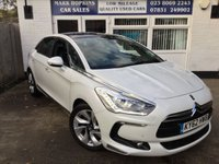USED 2012 62 CITROEN DS5 2.0 HDI DSPORT 5d AUTO 161 BHP 65K 1FAMILY OWNER HUGE SPEC LEATHER SAT/NAV PEARLESCENT WHITE