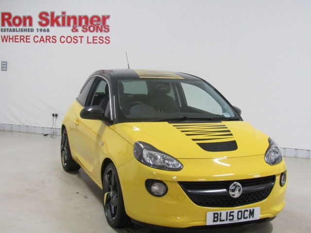 View our 2015 15 VAUXHALL ADAM 1.4 SLAM 3d 98 BHP