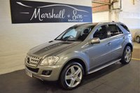 USED 2010 60 MERCEDES-BENZ M CLASS 3.0 ML350 CDI BLUEEFFICIENCY SPORT 5d AUTO 231 BHP HALF LEATHER - NAV - H/SEATS - SIDE DTEPS - POWERBOOT - PRIVACY GLASS