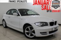 USED 2010 10 BMW 1 SERIES 2.0 118D SPORT 2DR AUTOMATIC 141 BHP HEATED HALF LEATHER SEATS + BLUETOOTH + PARKING SENSOR + CLIMATE CONTROL + MULTI FUNCTION WHEEL + RADIO/CD/AUX/USB + ELECTRIC WINDOWS + 17 INCH ALLOY WHEELS