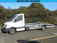 USED 2014 64 MERCEDES-BENZ SPRINTER 313 2.1 CDI LWB BEAVER TAIL AMS CAR TRANSPORTER RECOVERY TRUCK +REMAP 185BHP+1 OWNER+