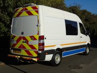 USED 2013 13 MERCEDES-BENZ SPRINTER 2.1 313 CDI 129 BHP MWB 6 SEATER CREW/MESS MOBILE OFFICE UNIT MOBILE OFFICE+TABLE+MICROWAVE
