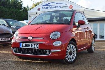 2015 FIAT 500 1.2 LOUNGE 3d 69 BHP £7450.00