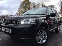 USED 2013 13 LAND ROVER FREELANDER 2 2.2 ED4 BLACK AND WHITE 5d 150BHP NEW FACELIFT 2KEYS+FSH 5STAMPS+ALLOYS+CDC+
