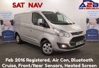 USED 2016 65 FORD TRANSIT CUSTOM 2.2 270 LIMITED 125 BHP COLOUR SAT NAV, 34971 Miles, Air Con, Alloys, Cruise Control, Bluetooth, Front & Rear Sensors, Heated Screen **Drive Away Today** Over The Phone Low Rate Finance Available, Just Call us on 01709 866668**