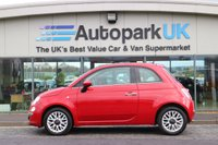 USED 2014 14 FIAT 500 1.2 LOUNGE 3d 69 BHP LOW DEPOSIT OR NO DEPOSIT FINANCE AVAILABLE