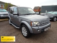 USED 2013 13 LAND ROVER DISCOVERY 3.0 4 SDV6 XS 5d AUTO 255 BHP *SEVEN SEATS  *DETACHABLE TOW BAR  *MAGNOLIA LEATHER TRIM SAT NAV