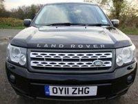 USED 2011 11 LAND ROVER FREELANDER 2.2 SD4 GS 5d AUTO 190 BHP freelander 2, 2.2 sd, gs, auto in santorini black with grey interior