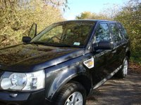USED 2007 57 LAND ROVER FREELANDER 2.2 TD4 SE 5d 159 BHP Freelander 2, 2.2 td4, SE 6 speed manual in Java Black with blue/black half leather interior.