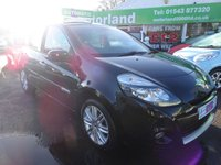 USED 2010 60 RENAULT CLIO 1.6 INITIALE TOMTOM VVT 5d AUTO 110 BHP ** 01543 877320 ** JUST ARRIVED ** FULL SERVICE HISTORY ** LOW MILEAGE **