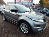 USED 2011 61 LAND ROVER RANGE ROVER EVOQUE 2.2 SD4 DYNAMIC LUX 5d AUTO 190 BHP PERFORATED BLACK LEATHER, PN ROOF, SAT NAV, F.S.H