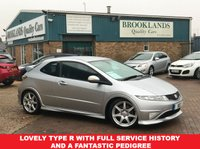 USED 2007 07 HONDA CIVIC 2.0 I-VTEC TYPE-R GT Alabaster Silver Metallic 3d 198 BHP Lovely Type R with Full Service History and a Fantastic Pedigree