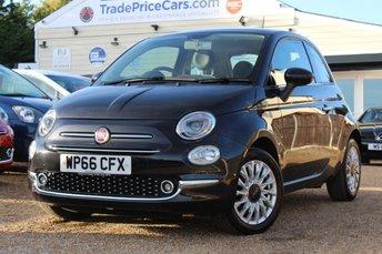 2016 FIAT 500 1.2 LOUNGE 3d 69 BHP £7950.00