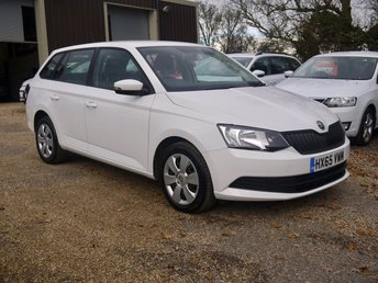 2015 SKODA FABIA 1.4 TDI S 5 Door Diesel Estate In White 1 Owner From New £7295.00