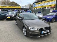 2014 AUDI A3 1.6 TDI S LINE 5 DOOR 104 BHP IN BRONZE WITH WITH 72000 MILES AND A GREAT SPEC. £11999.00