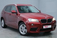 USED 2011 61 BMW X3 2.0 XDRIVE20D M SPORT 5d 181 BHP 1 FORMER OWNER + FULL SERVICE HISTORY + HEATED LEATHER + BLUETOOTH + METALLIC PAINT