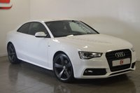 USED 2012 61 AUDI A5 2.0 TDI S LINE BLACK EDITION 2d AUTO 177 BHP 19 INCH ROTORS + ONLY 59K + SAT NAV + PRIVACY GLASS