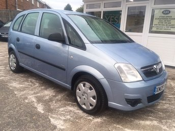 2009 VAUXHALL MERIVA 1.6 LIFE AC 16V GREAT ACCESS - PRACTICAL VALUE MOTORING!!!! £2995.00