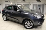USED 2011 60 HYUNDAI IX35 2.0 PREMIUM CRDI 4WD 5d 134 BHP - full service history  GREY WITH FULL BLACK LEATHER SEATS + FULL SERVICE HISTORY + KEYLESS START + HEATED SEATS + POWER FOLD MIRRORS + 18 INCH ALLOYS + REAR PARKING SENSORS + TWIN SUNROOF + BLUETOOTH + AUTOMATIC AIR CONDITIONING